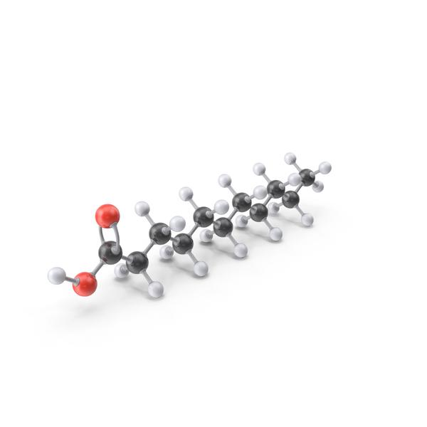 Undecylic Acid Molecule PNG & PSD Images