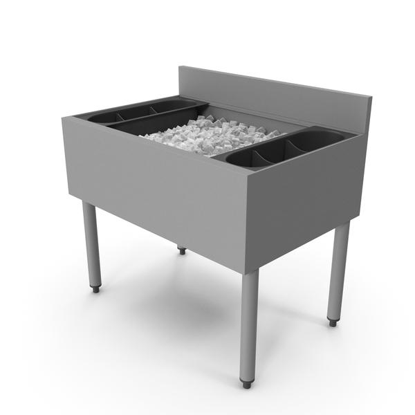 Storage Rack: Under Bar Ice Bin PNG & PSD Images
