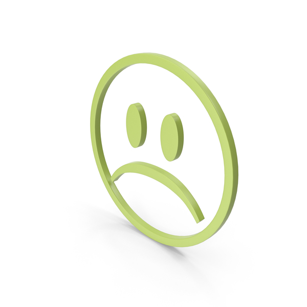 Facial Expression: Unhappy Green Icon PNG & PSD Images