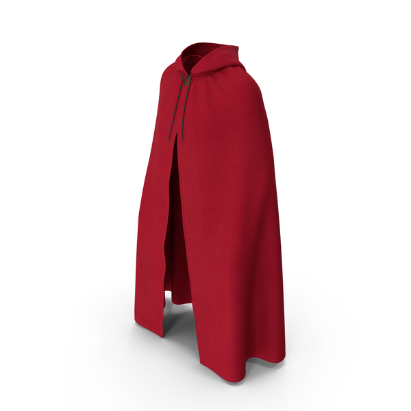 Unisex Red Cloak with Hood PNG & PSD Images