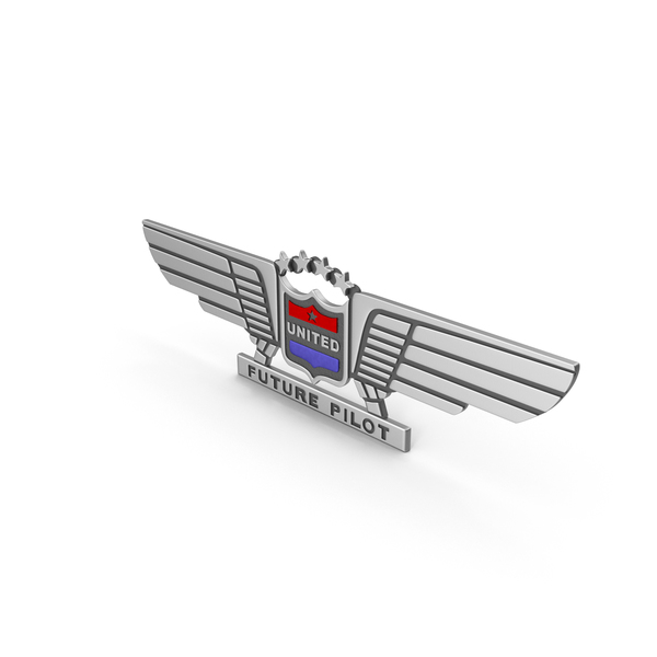 Badge: United Future Pilot Pin PNG & PSD Images