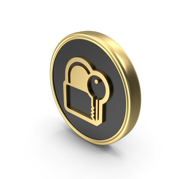 Symbols: Unlock Key Coin Logo Icon PNG & PSD Images