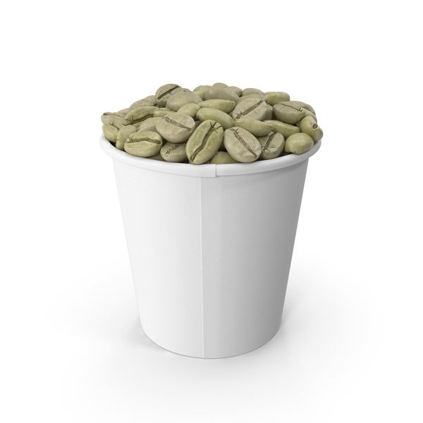 Unroasted Green Coffee Beans in a Cup PNG & PSD Images