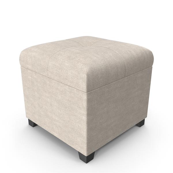 Upholstered Ottoman PNG & PSD Images