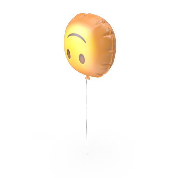 Upside Down Face Emoji Balloon PNG & PSD Images