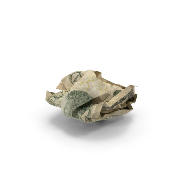 US 10 Dollar Bill Crumpled PNG & PSD Images