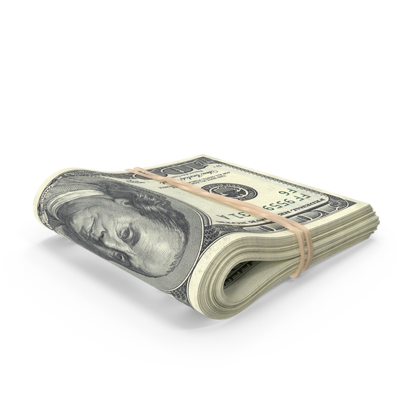 US 100 Dollar Bill Folded PNG & PSD Images