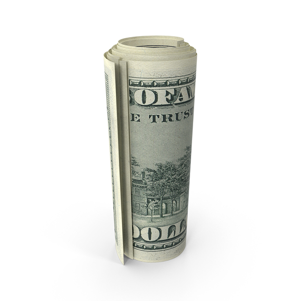 US 100 Dollar Bill Rolled PNG & PSD Images