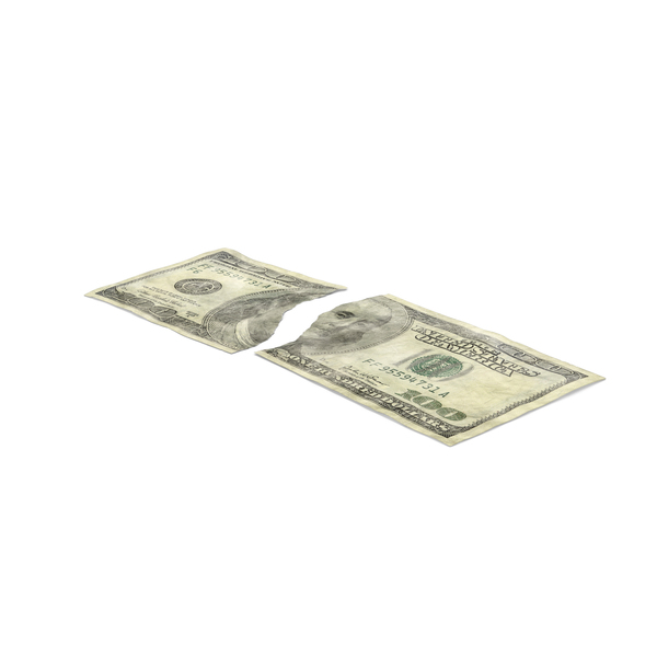 Usa Banknote: US 100 Dollar Bill Torn PNG & PSD Images