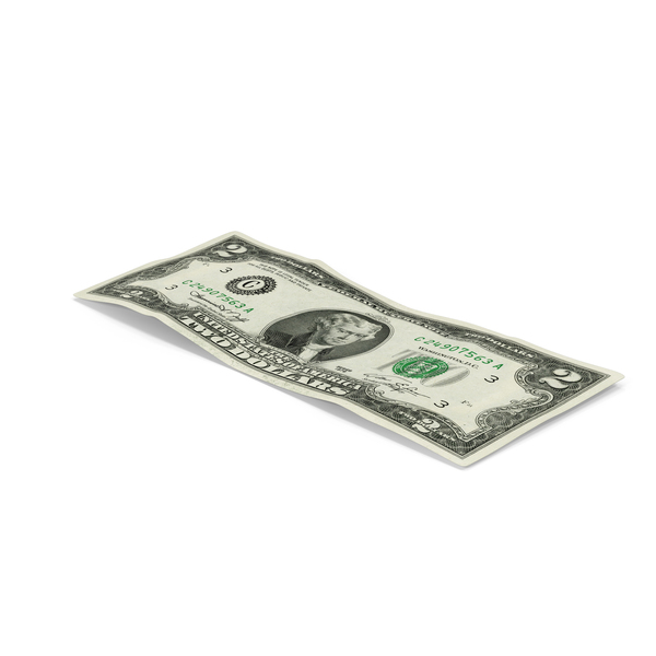 US 2 Dollar Bill Object