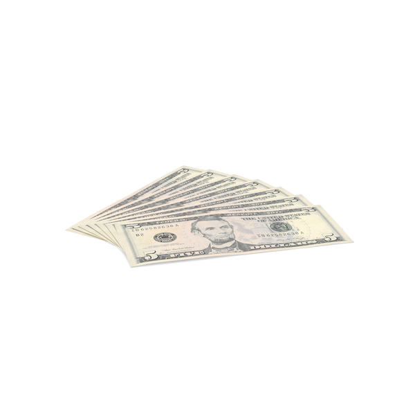 US 5 Dollar Bill Object