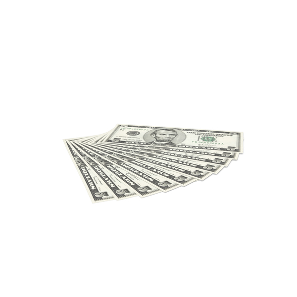 US 5 Dollar Bills PNG & PSD Images