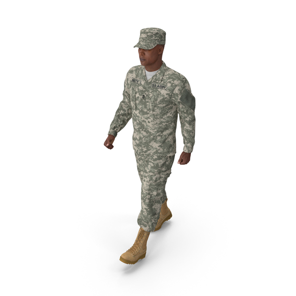 Man: US Army Soldier Marching Pose PNG & PSD Images