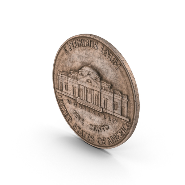 Coin: US Nickel Aged Object