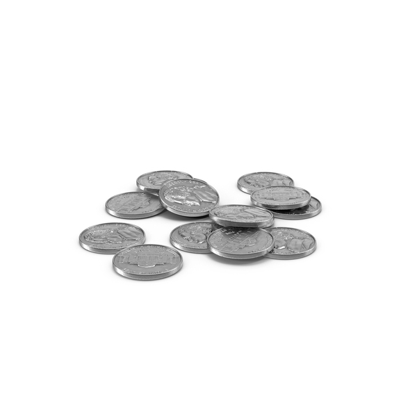 Coin: US Nickel Pile PNG & PSD Images
