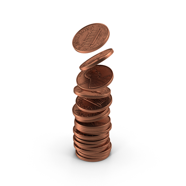 US Penny Stack Object