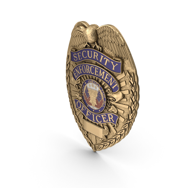 US Police Badge Brass PNG & PSD Images