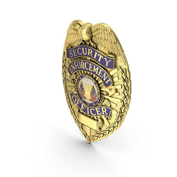 US Police Badge Gold PNG & PSD Images