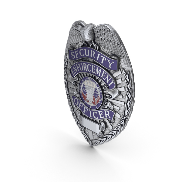 US Police Badge Silver PNG & PSD Images