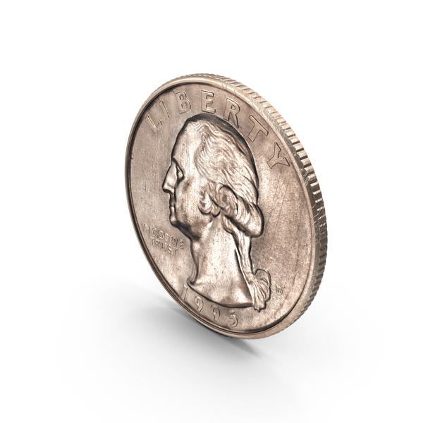 US Quarter Dollar Aged PNG & PSD Images