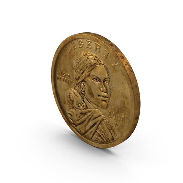 US Sacagawea Dollar Aged PNG & PSD Images