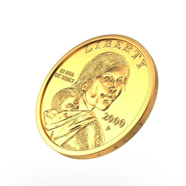 Coin: US Sacagawea Dollar PNG & PSD Images