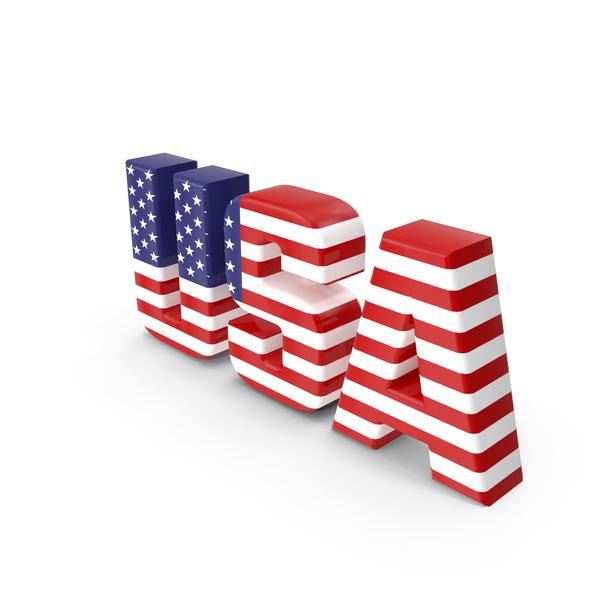 USA Text PNG & PSD Images