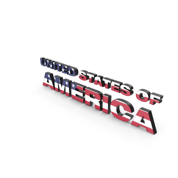 Language: USA Text with Flag PNG & PSD Images