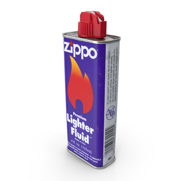 Used 1996 Zippo Lighter Fluid 125ml PNG & PSD Images