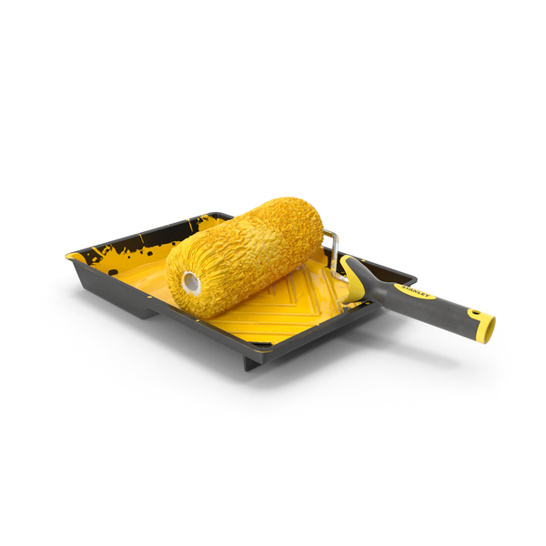 Drip Tray: Used Stanley Paint Roller Kit PNG & PSD Images