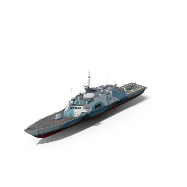 Stealth Ship: USS Freedom LCS 1 Marine Camouflage PNG & PSD Images