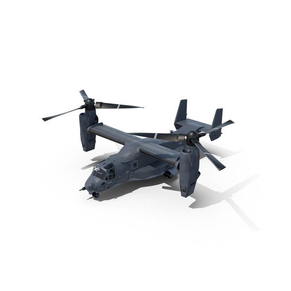 Cargo Airplane: V-22 Osprey Transport Aircraft Object