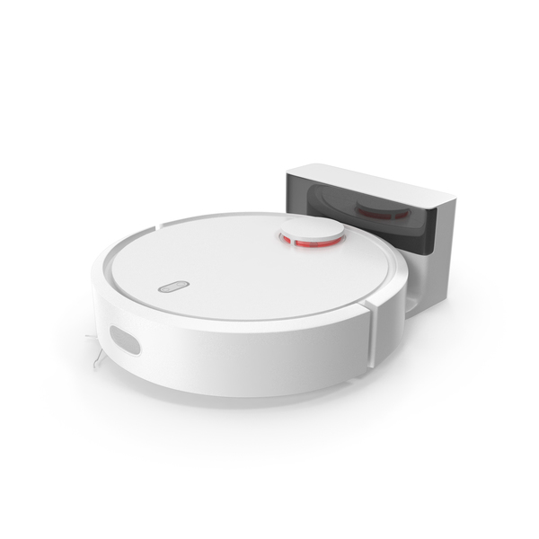Vacuum Cleaner Robot On The Base PNG & PSD Images