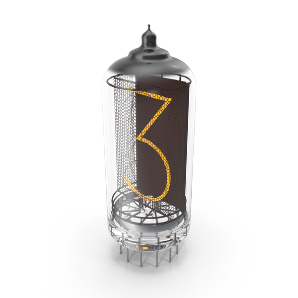 Vacuum Tube Alphabet Number 3 PNG & PSD Images