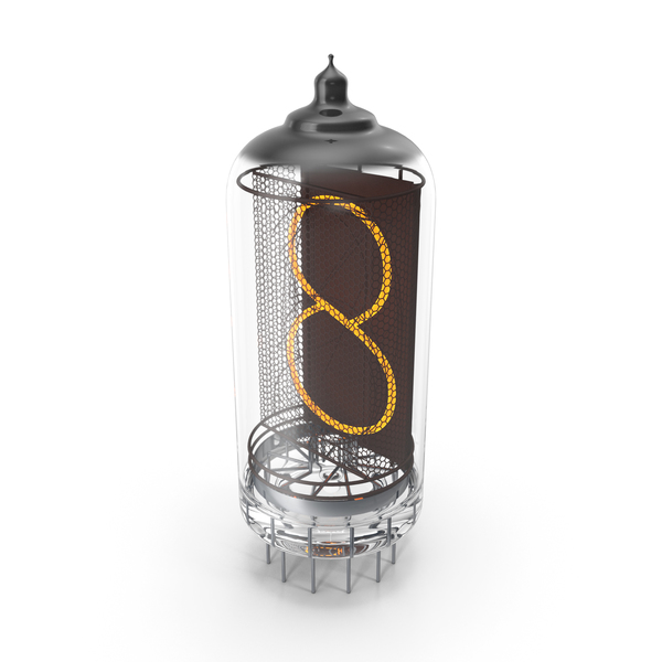 Vacuum Tube Alphabet Number 8 PNG & PSD Images