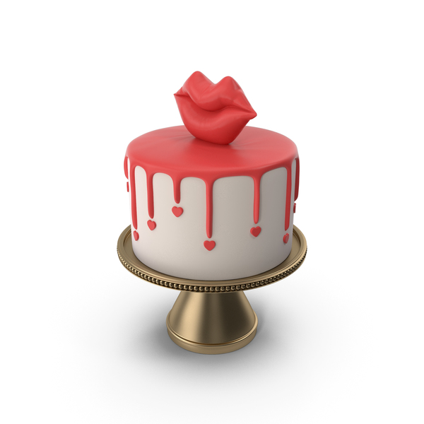 Valentine's Drip Cake PNG & PSD Images