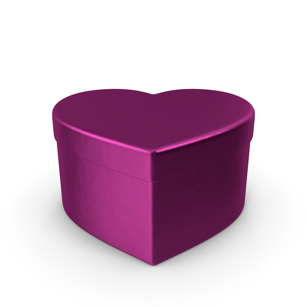 Valentines Shape Fuchsia Gift Box PNG & PSD Images