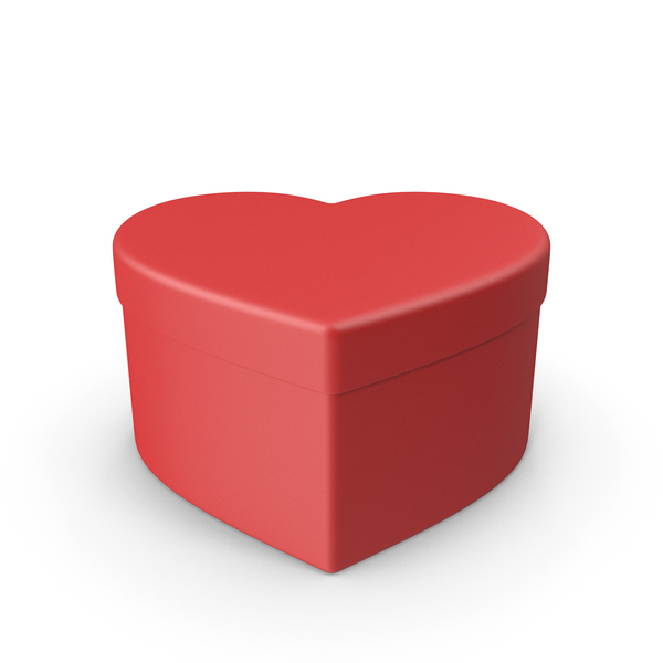 Valentines Shape Red Gift Box PNG & PSD Images