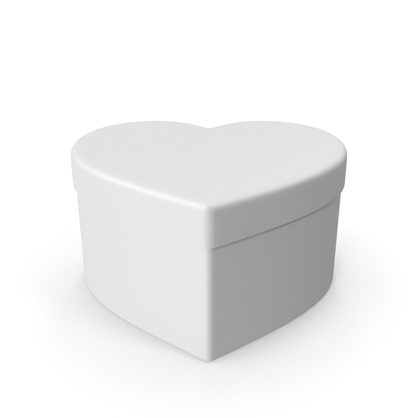 Valentines Shape White Gift Box PNG & PSD Images