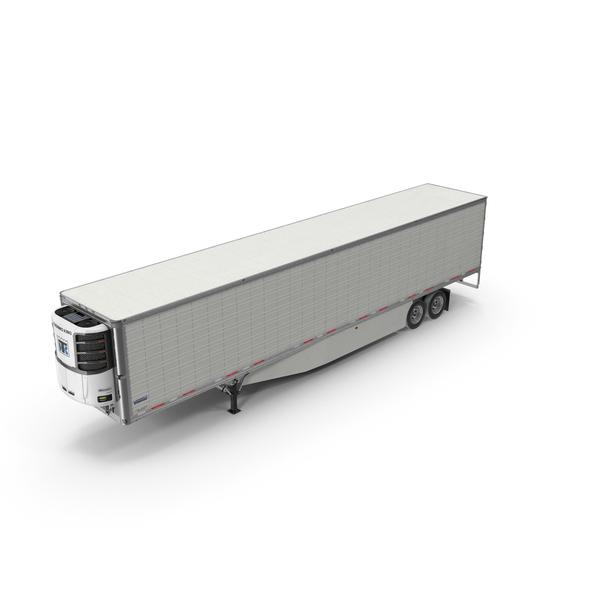 Truck: Vanguard Reefer Semi Trailer Refrigerator PNG & PSD Images