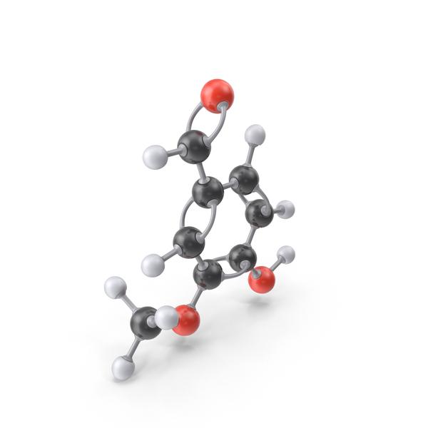 Vanillin Molecule PNG & PSD Images