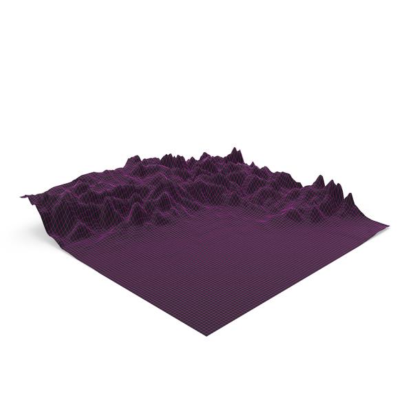 Vaporwave Mountain Landscape PNG & PSD Images
