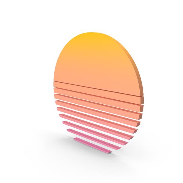 Star Symbol: Vaporwave Sun PNG & PSD Images