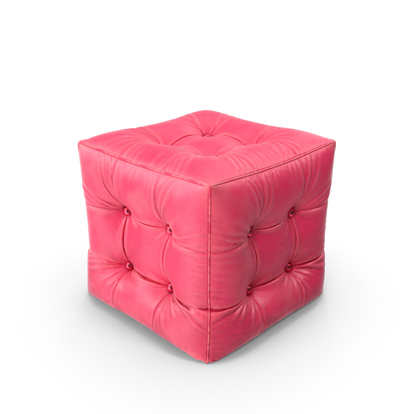 Varnished Leather Pouf PNG & PSD Images