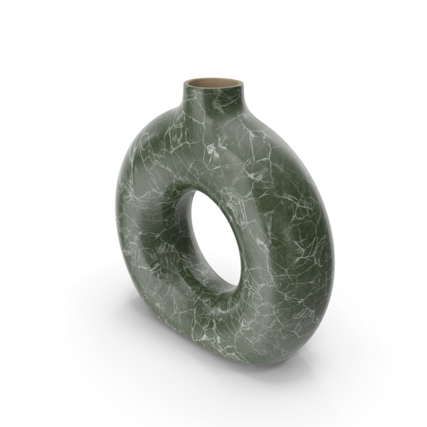 Vase Torus Green Marble PNG & PSD Images