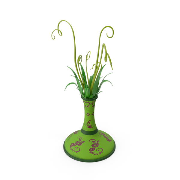 Vassal Flower pot Butter Fly Green PNG & PSD Images
