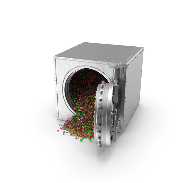 Bank: Vault with Mixed Gems PNG & PSD Images