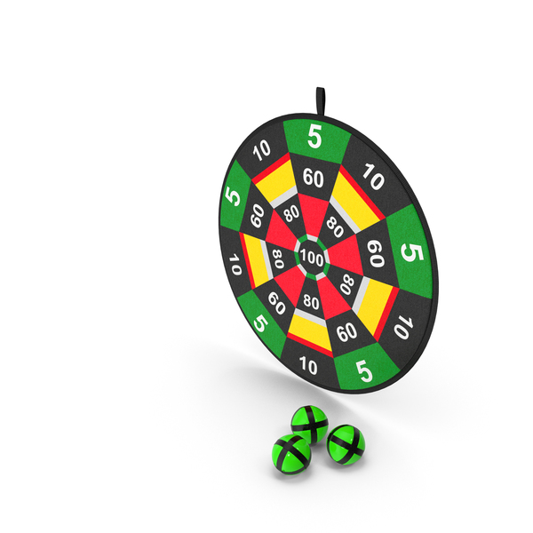 Velcro Dartboard Game Set PNG & PSD Images