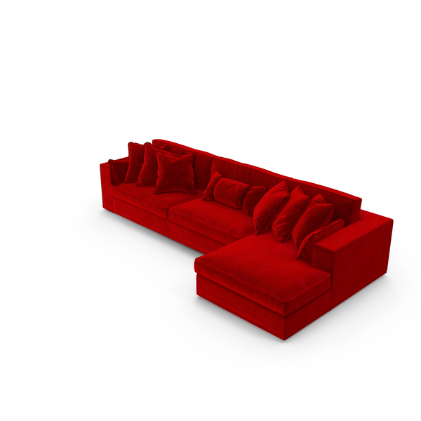Velvet Corner Sectional Sofa PNG & PSD Images