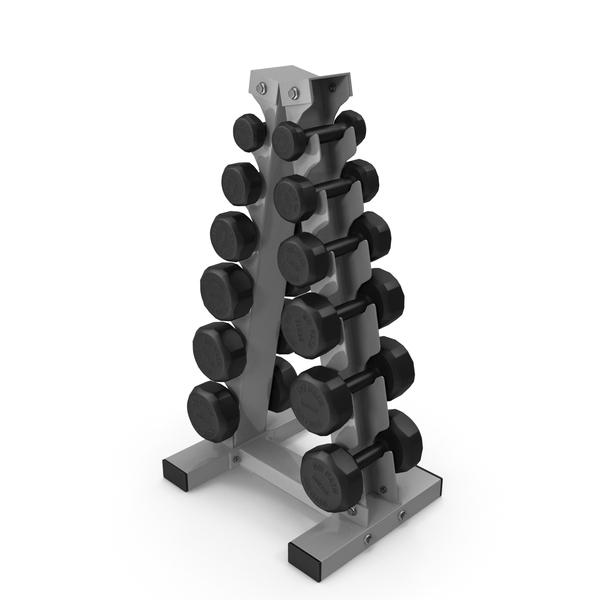 Vertical Dumbbells Rack PNG & PSD Images